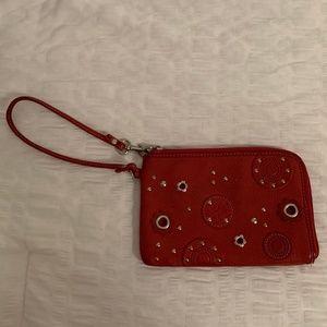 Maroon Fossil Wristlet Wallet